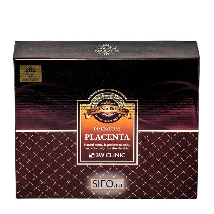 Антивозрастной набор для лица 3W Clinic Premium Placenta 3 Items Set