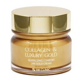 Крем для лица 3W Clinic Collagen & Luxury Gold Cream