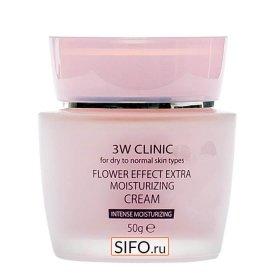 Крем для лица 3W Clinic Flower Effect Extra Moisturizing Cream