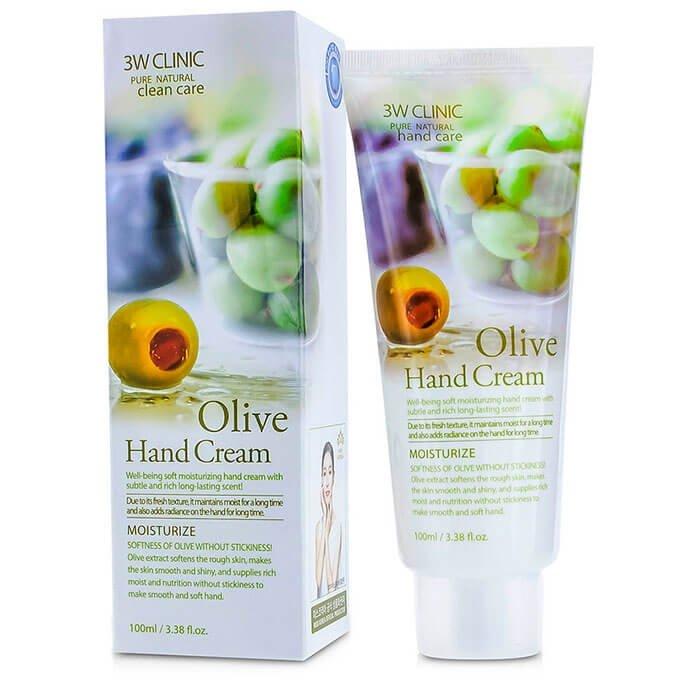 ÐÑем Ð´Ð»Ñ ÑÑк 3W Clinic Olive Hand Cream