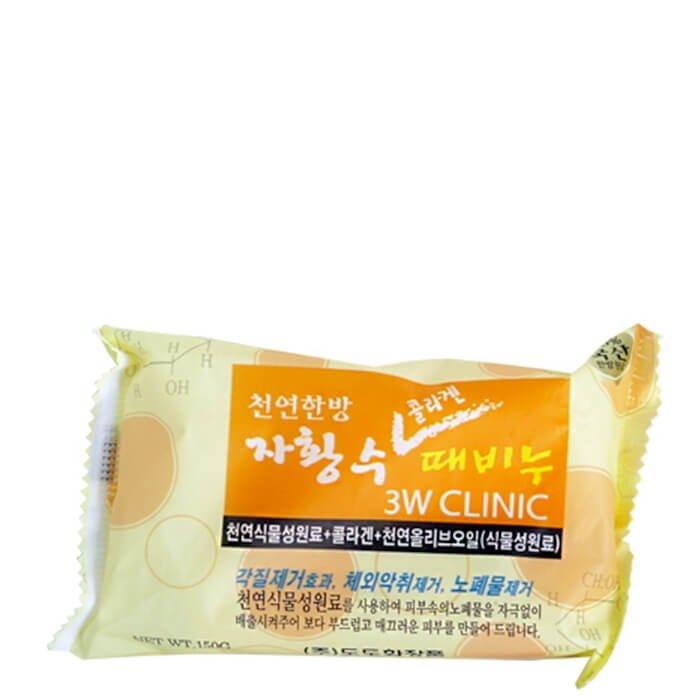 Мыло для лица и тела 3W Clinic Collagen Dirt Soap