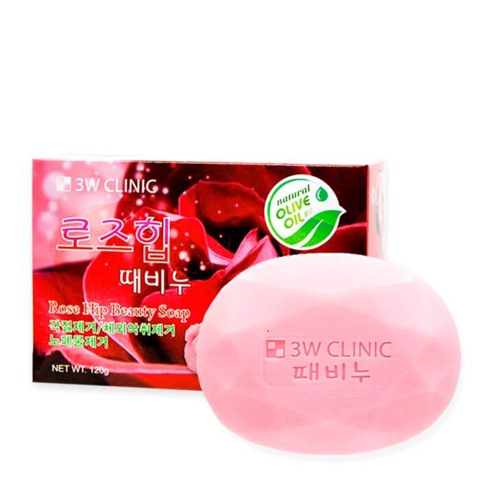 Мыло для лица и тела 3W Clinic Rose Hip Beauty Soap