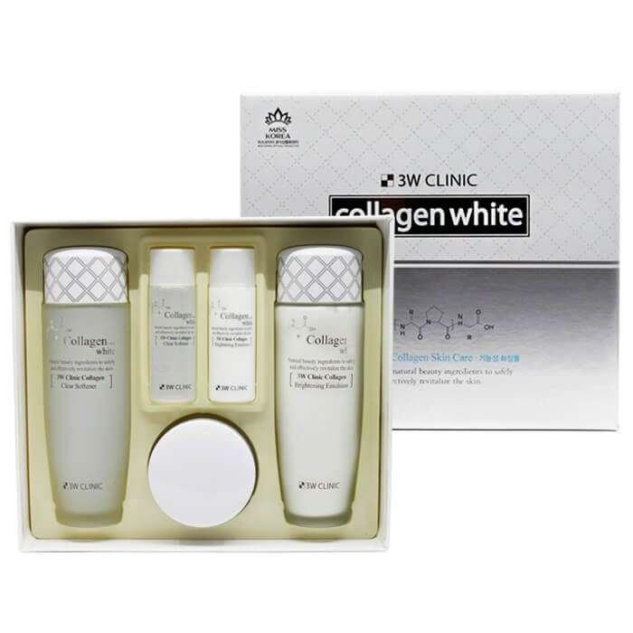 Набор для осветления лица 3W Clinic Collagen White Skin Care Items 3 Set