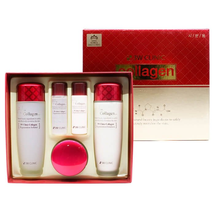 Набор для подтяжки лица 3W Clinic Collagen Skin Care 3 Items Set