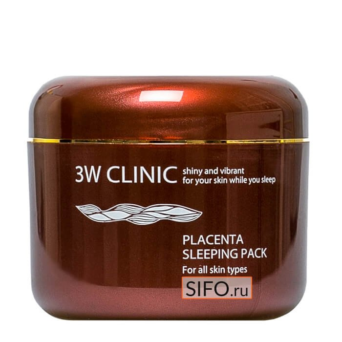 Ночная маска 3W Clinic Placenta Sleeping Pack