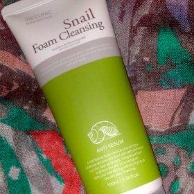 Пенка для умывания 3W Clinic Snail Foam Cleansing