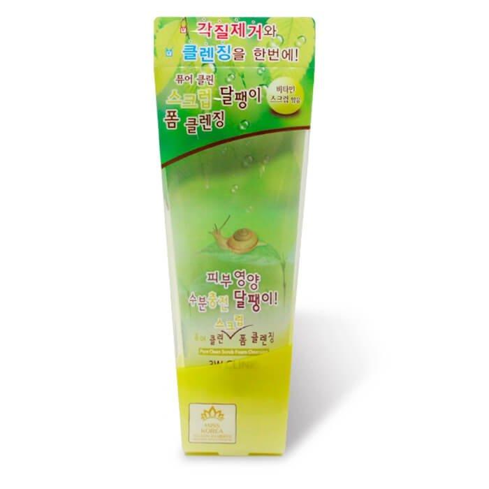 Пенка-скраб для лица 3W Clinic Pure Clean Scrub Foam Cleansing Snail