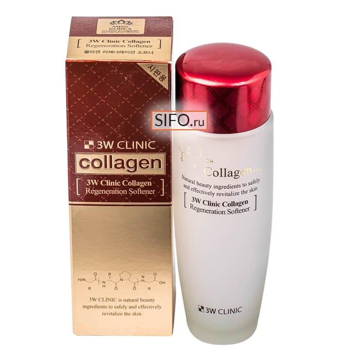 Софтнер для лица 3W Clinic Collagen Regeneration Softener