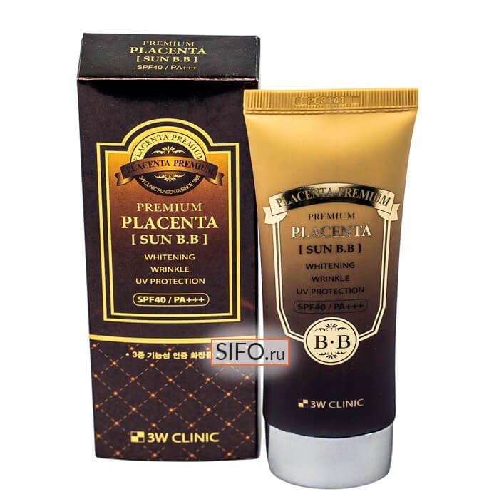 Солнцезащитный ВВ крем 3W Clinic Premium Placenta Sun BB Cream
