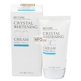 СС крем 3W Clinic Crystal Whitening CC Cream