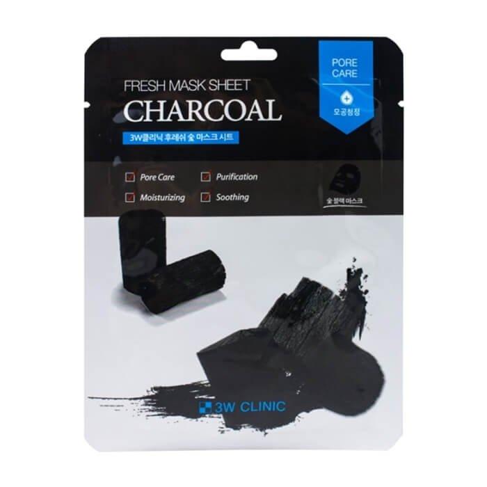 Тканевая маска 3W Clinic Fresh Charcoal Mask Sheet – купить в ...