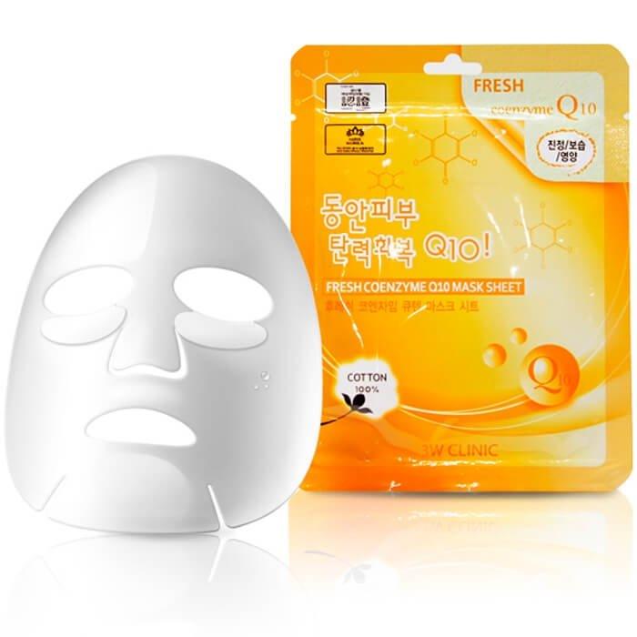 Тканевая маска 3W Clinic Fresh Coenzyme Q10 Mask Sheet