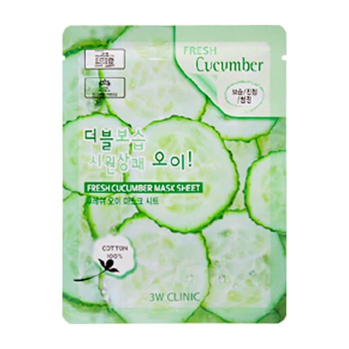 Тканевая маска 3W Clinic Fresh Cucumber Mask Sheet
