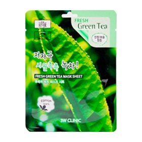 Тканевая маска 3W Clinic Fresh Green Tea Mask Sheet