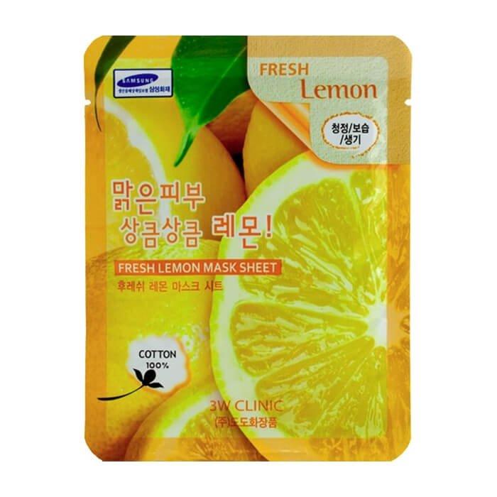 Тканевая маска 3W Clinic Fresh Lemon Mask Sheet – купить в Москве   Интернет-магазин SIFO