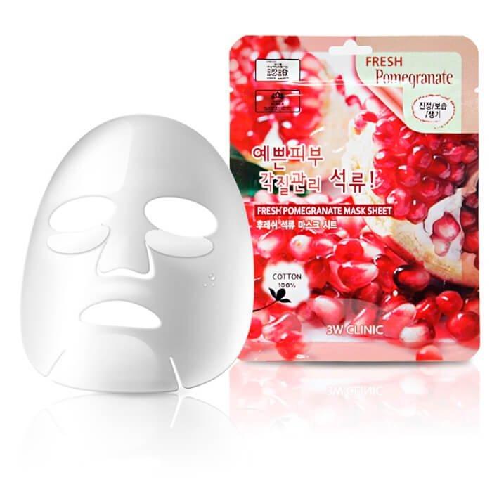 Тканевая маска 3W Clinic Fresh Pomegranate Mask Sheet