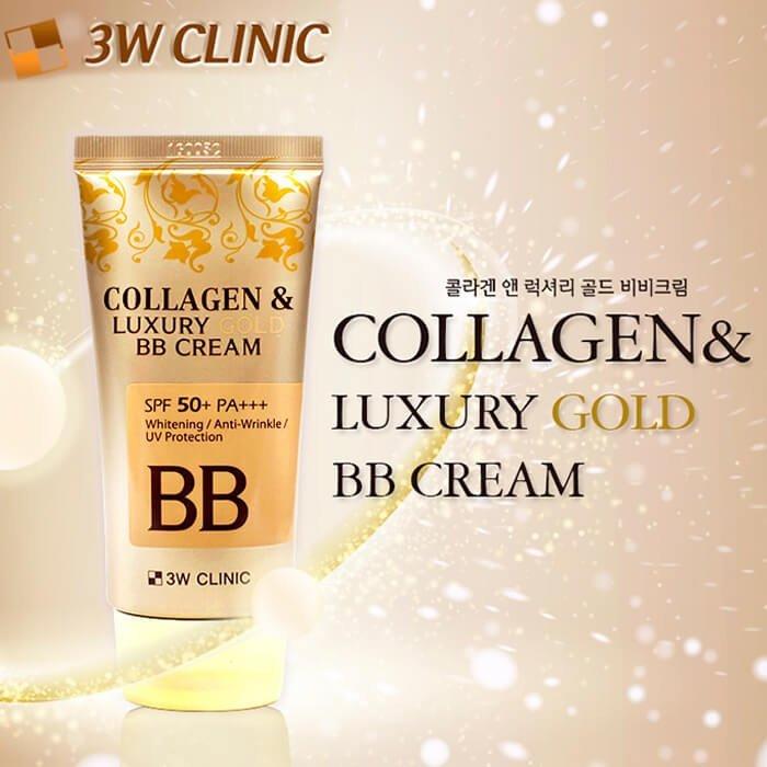 ВВ крем 3W Clinic Collagen & Luxury Gold BB Cream