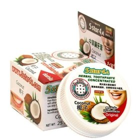 Зубная паста 5Star4A Coconut Herbal Toothpaste Concetrated