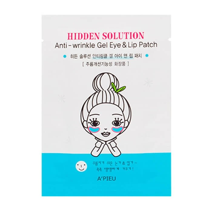 Патчи для век и губ A'Pieu Hidden Solution Anti-wrinkle Gel Eye & Lip Patch