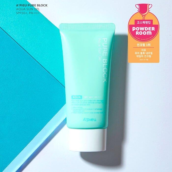 Солнцезащитный гель для лица A'Pieu Pure Block Aqua Sun Gel