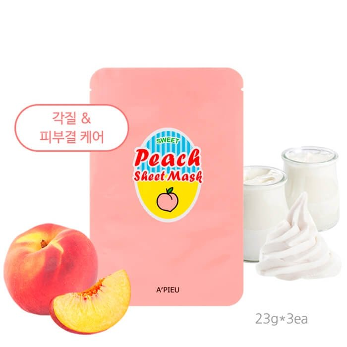Тканевая маска A'Pieu Peach & Yogurt Sheet Mask