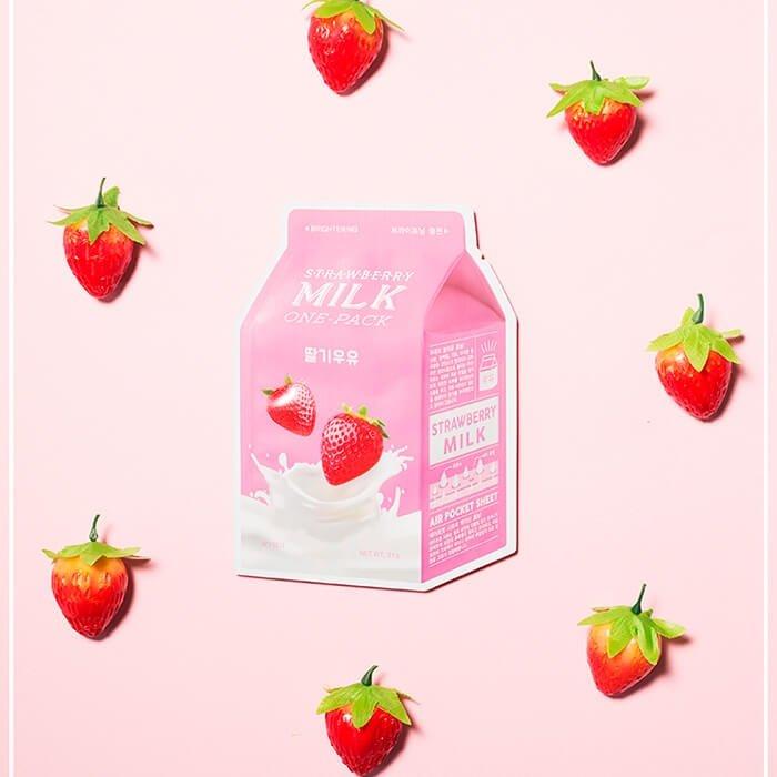 Тканевая маска A'Pieu Strawberry Milk One-Pack