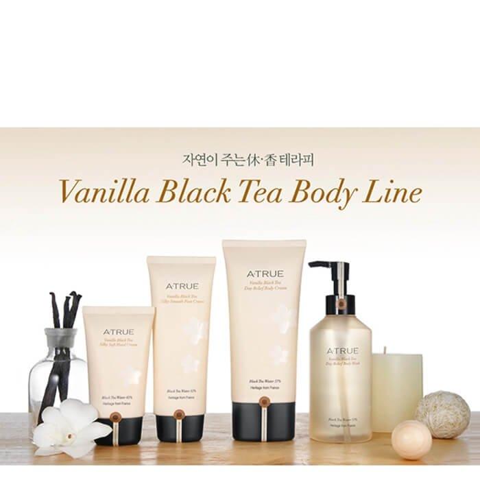 Крем для ног A-True Vanilla Black Tea Silky Smooth Foot Cream
