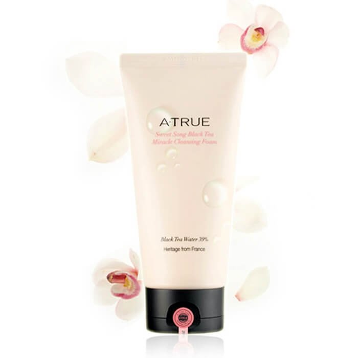 Очищающая пенка A-True Sweet Song Black Tea Miracle Cleansing Foam