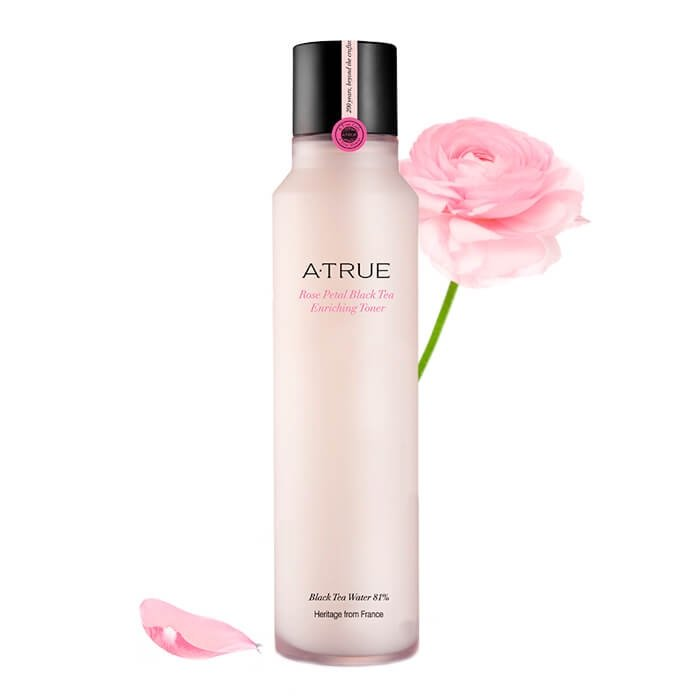 Тонер для лица A-True Rose Petal Black Tea Enriching Toner