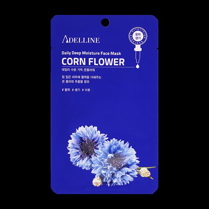 Тканевая маска Adelline Daily Deep Moisture Face Mask - Corn Flower (новый дизайн)