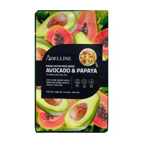 Тканевая маска Adelline Fresh Detox Face Mask Avocado & Papaya