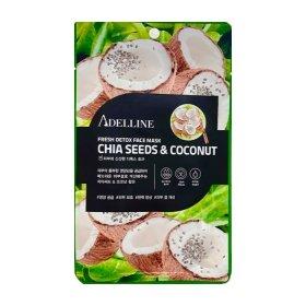 Тканевая маска Adelline Fresh Detox Face Mask Chia Seeds & Coconut