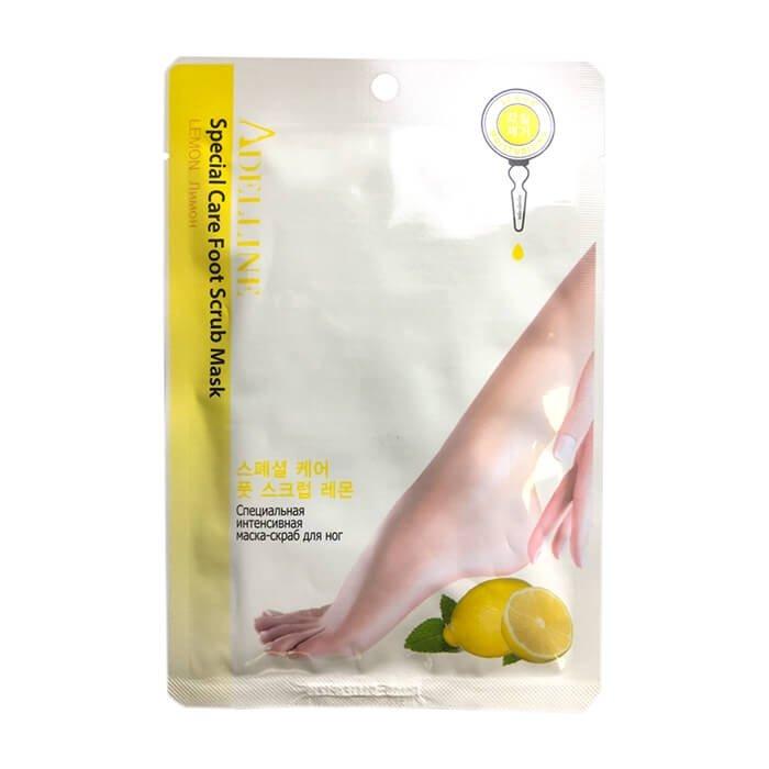 Маска-скраб для ног Adelline Special Care Foot Scrub Mask - Lemon