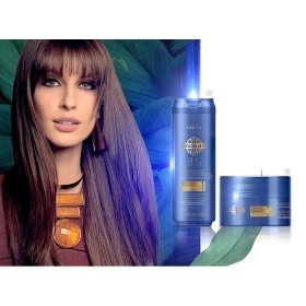 Маска для волос Amend Capillary Mass and Keratin Repositioning Gold Black RMC System Q+