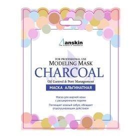 Альгинатная маска Anskin Charcoal Modeling Mask (Sachet)