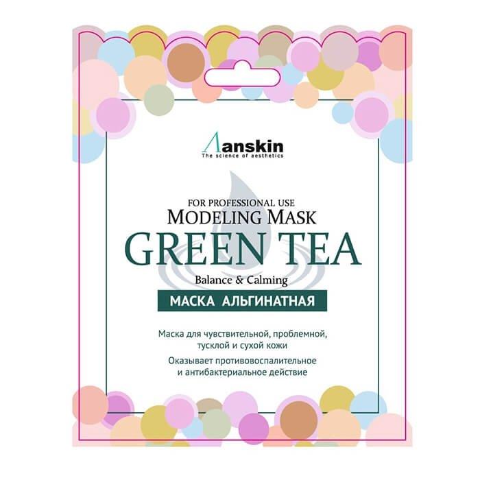 Альгинатная маска Anskin Green Tea Modeling Mask (Sachet)