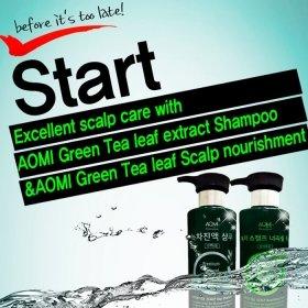 Шампунь для волос AOMI Green Tea Extract Shampoo
