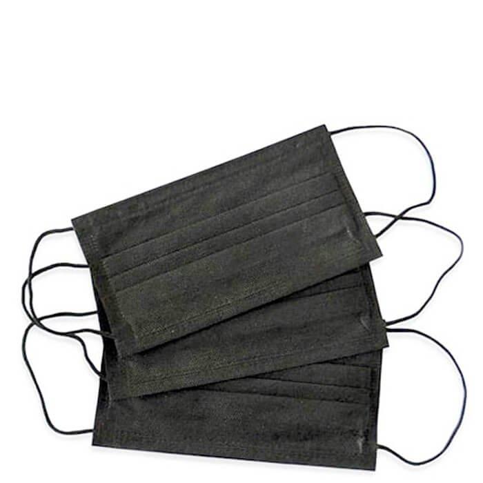 Медицинская маска 3-слойная чёрная