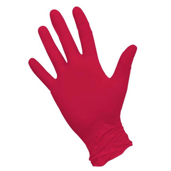 Перчатки NitriMAX красные нитриловые