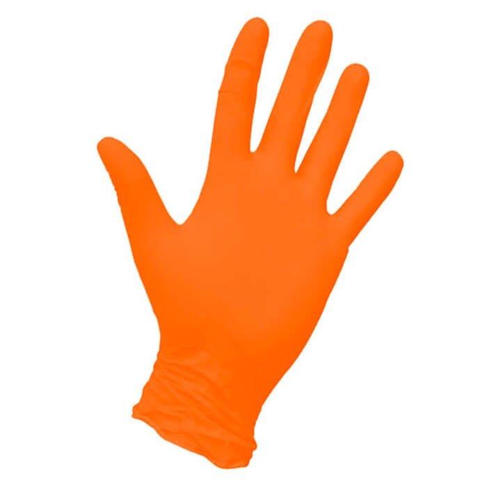 Перчатки NitriMAX оранжевые нитриловые