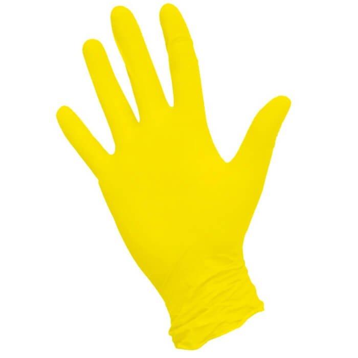 Перчатки NitriMAX жёлтые нитриловые
