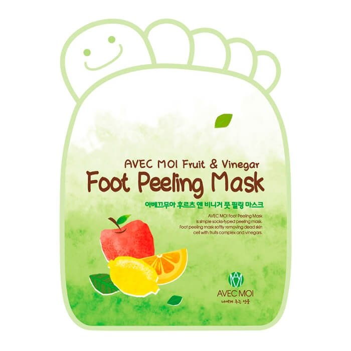 Носочки для педикюра Avec Moi Fruit & Vinegar Foot Peeling Mask