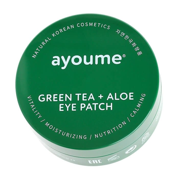 Патчи для век Ayoume Green Tea + Aloe Eye Patch