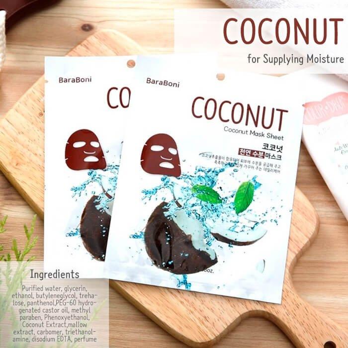 Тканевая маска Baraboni Coconut Mask Sheet