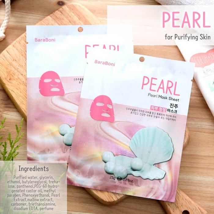 Тканевая маска Baraboni Pearl Mask Sheet