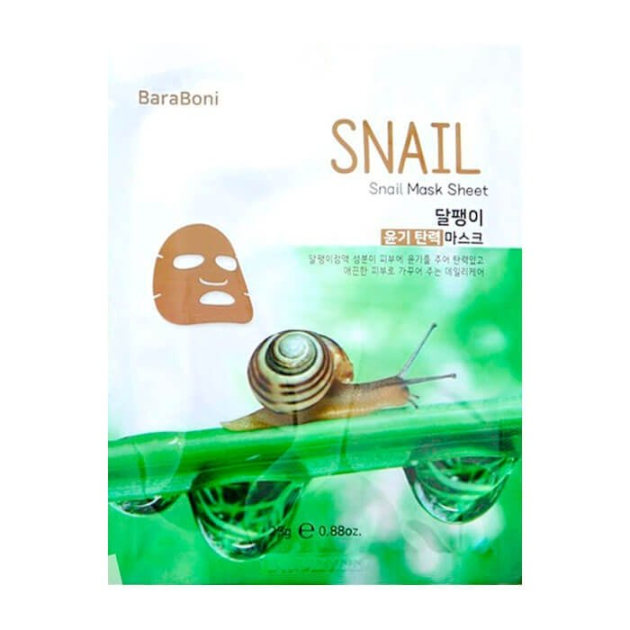 Тканевая маска Baraboni Snail Mask Sheet