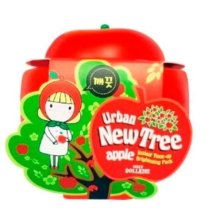 Кремовая маска Urban Dollkiss New Tree Apple Instant Tone-up Brightening Pack