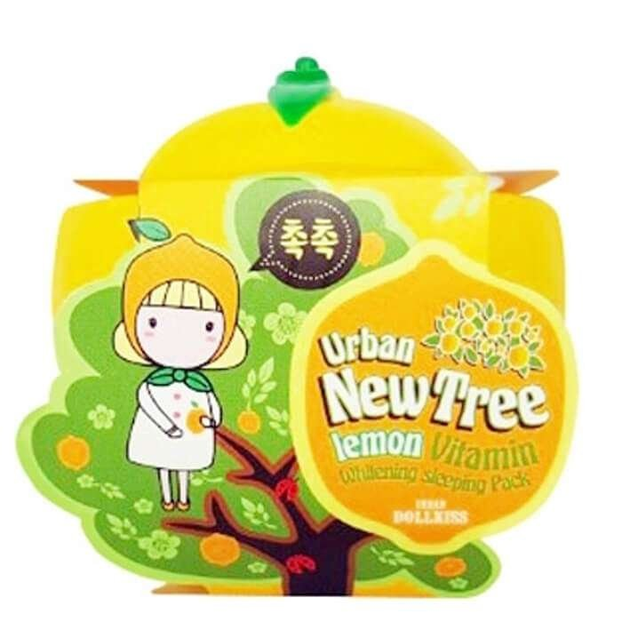 Ночная маска Urban Dollkiss New Tree Lemon Vitamin Whitening Sleeping Pack