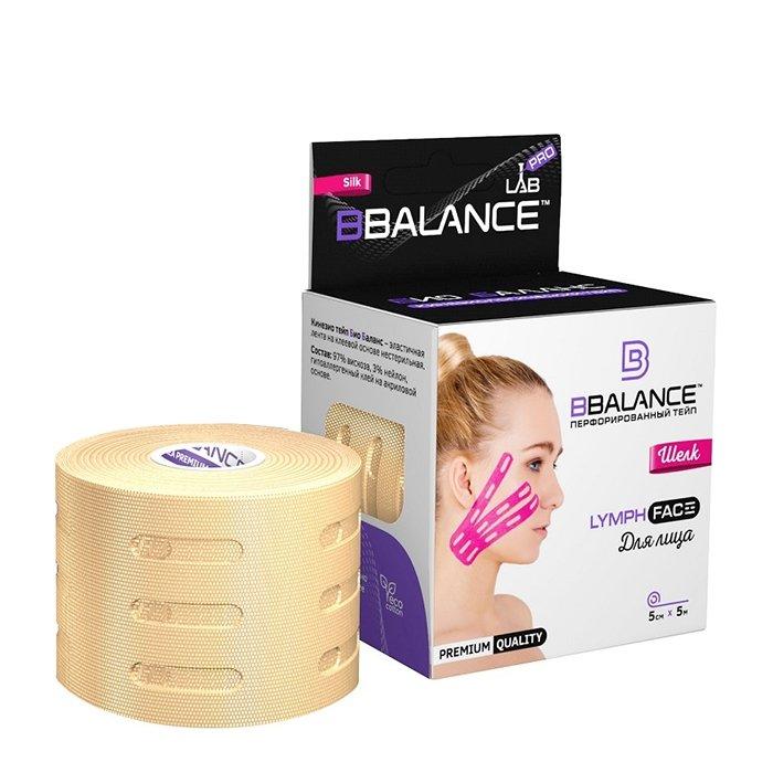 Кинезио тейп для лица BBTape Lymph Face Silk (5см*5м)