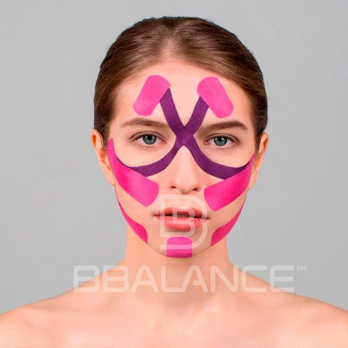 Кинезио тейп для лица BBTape Face Pack (5см*5м)